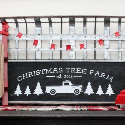 DIY Christmas Tree Farm Sign with FREE Cut Files