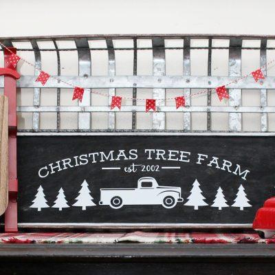 DIY Christmas Tree Farm Sign with FREE Cut Files