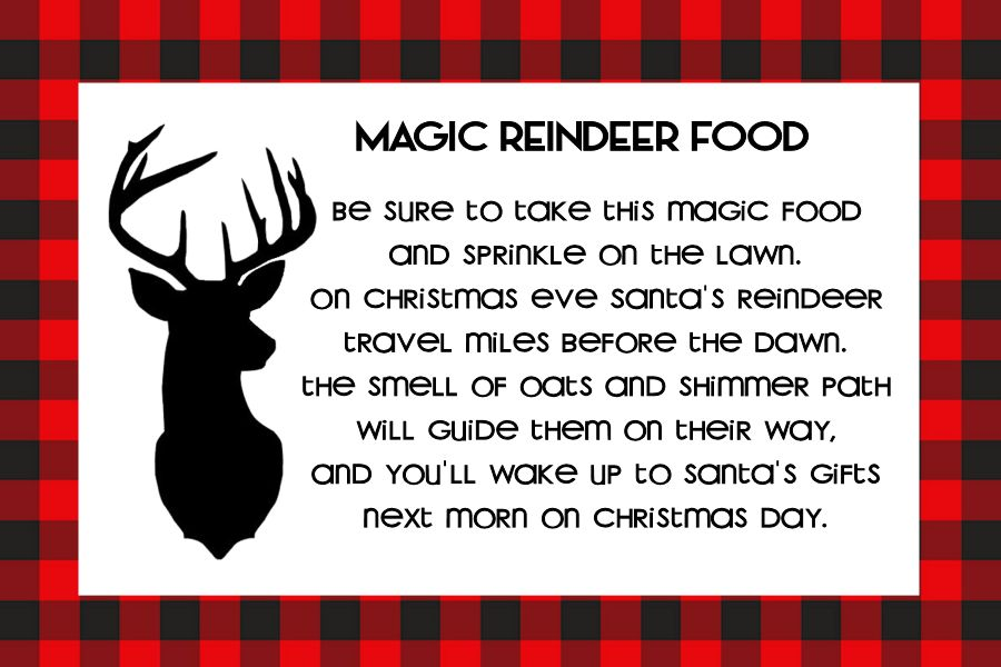 image regarding Reindeer Food Poem Printable identify Magic Reindeer Meals - The Female Resourceful