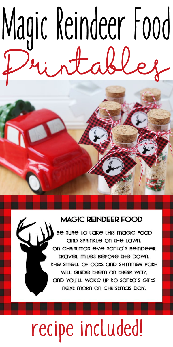 Magic Reindeer Food is a timeless tradition that kids will love. The recipe can be tweaked to your liking and the free printable tags and instructions make this easy to give as a gift.