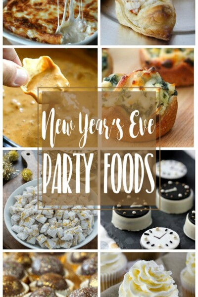 Delicious New Year's Eve Party Foods | Appetizers, dips and desserts