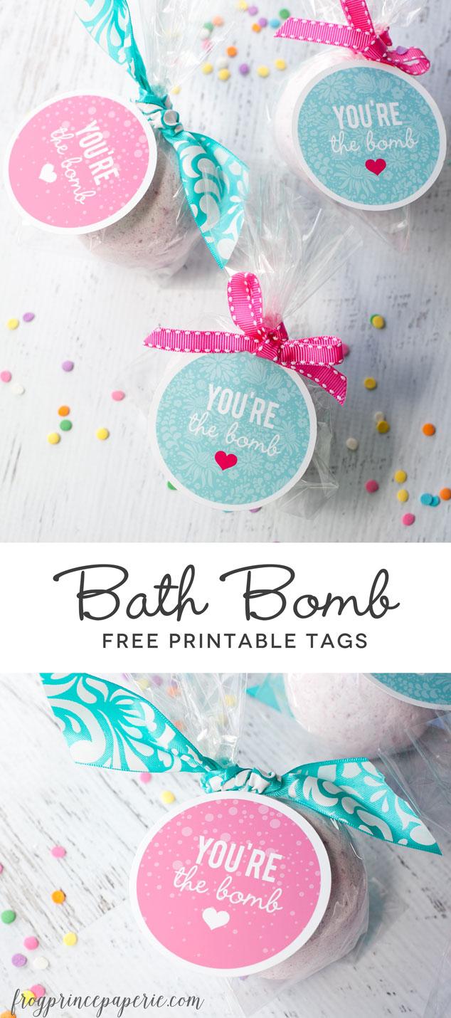 Bath Bomb Free Printable Tags The Girl Creative