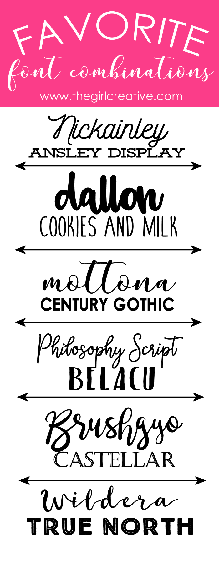 I Still Have A Few Of My All Time Favorites But Put Together Bunch New Favorite Font Combinations Hope You Find Some Your Own
