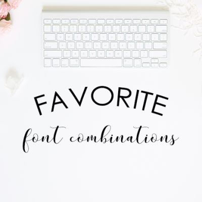 Favorite Font Combinations – Volume 2