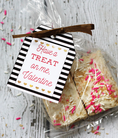 Marshmallow Treat Valentines | Classroom Valentines Idea | Printable Valentine's Day Gift Tags