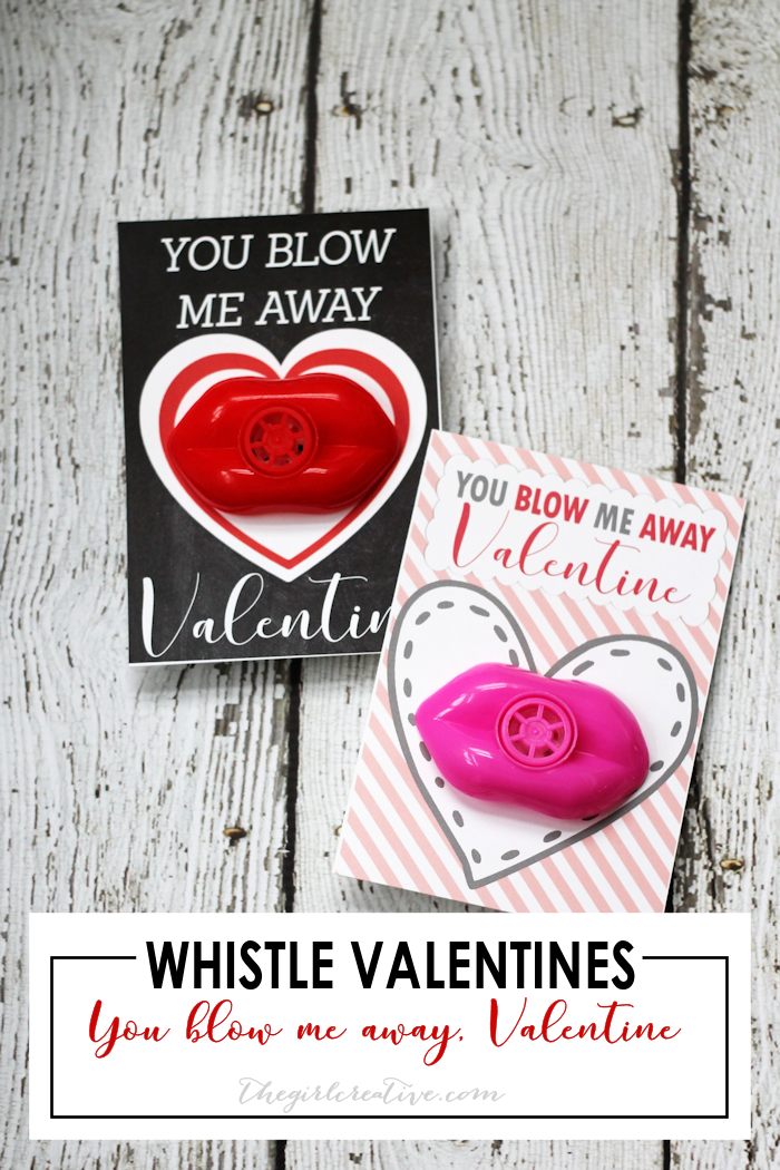 Whistle Valentines | Non Candy Classroom Valentines | You Blow Me Away Valentine
