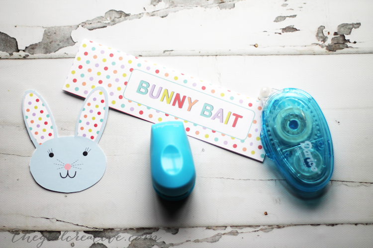 Bunny Bait Snack Mix Bag Toppers
