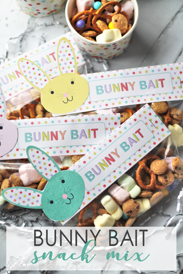 photo about Bunny Bait Printable named Bunny Bait Snack Combine for Easter - The Woman Innovative