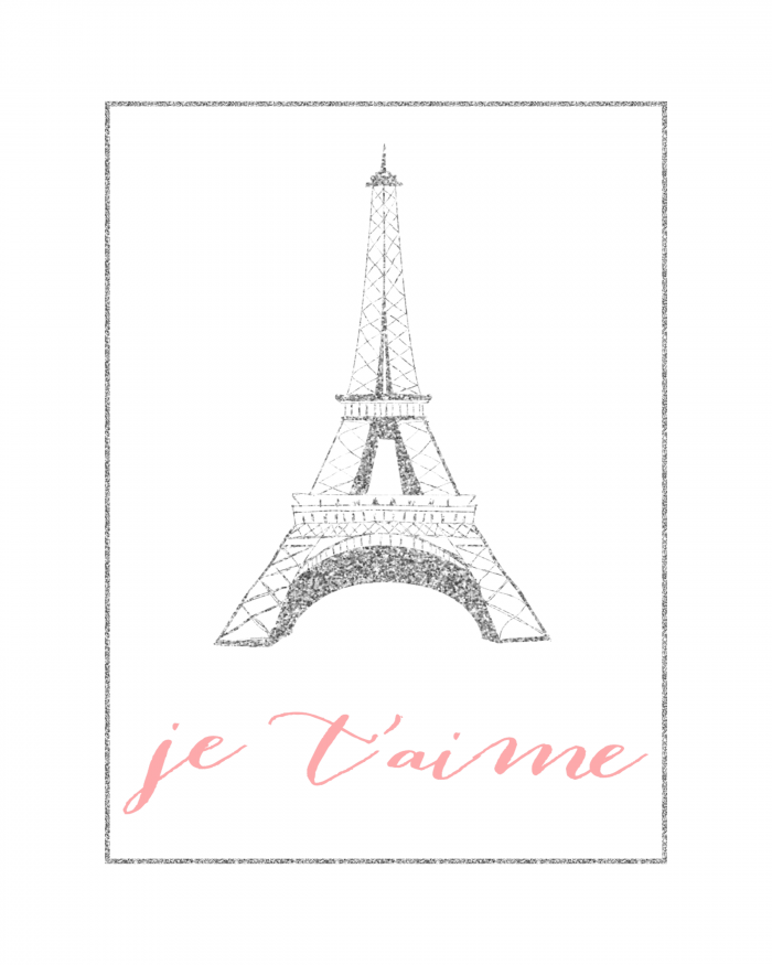 Eiffel Tower Wall Art. Je Tu0027aime Wall Art | Eiffel Tower Decor