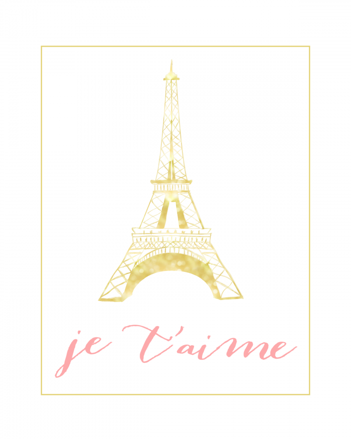 Je T'aime Wall Art | Eiffel Tower Decor