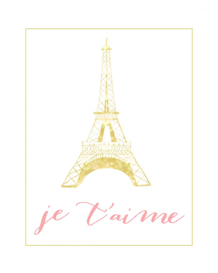 Je T'aime Wall Art | Eiffel Tower Decor