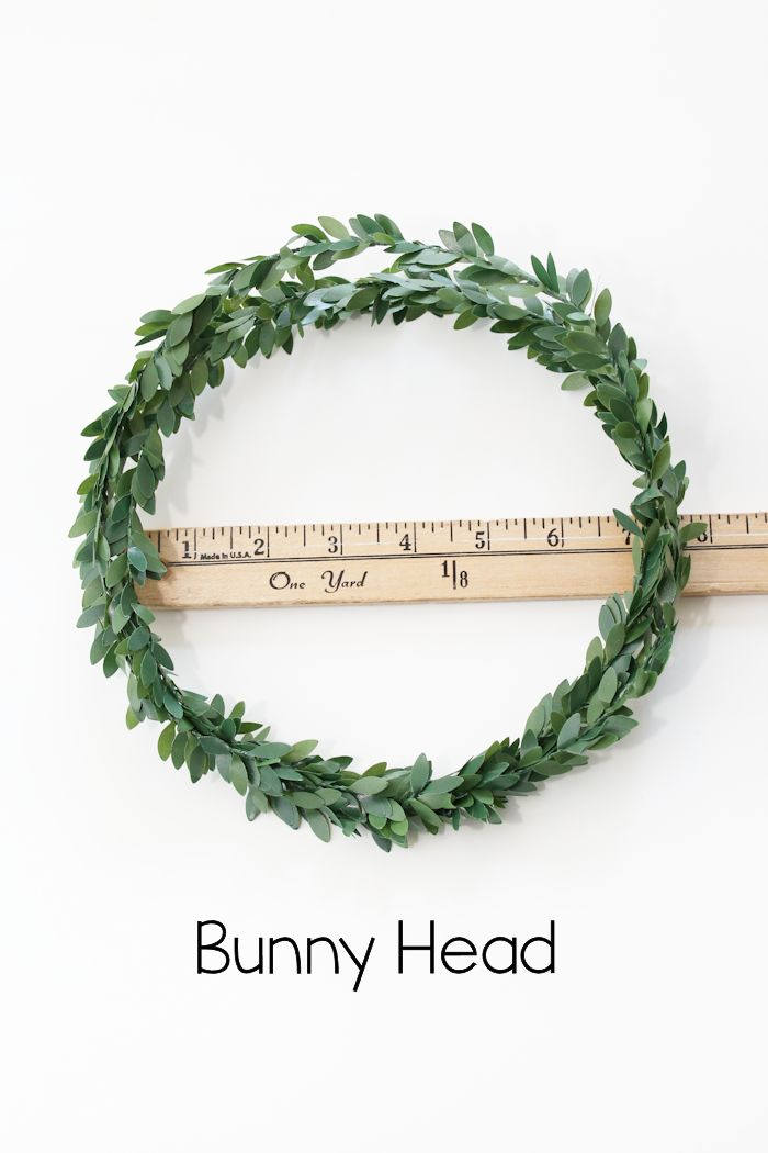DIY Bunny Wreath