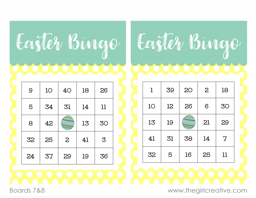 It is a graphic of Critical Printable Easter Bingo Cards