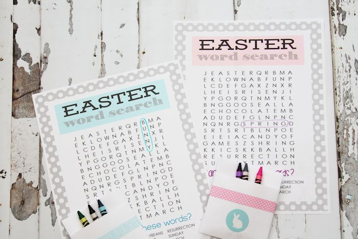 Printable Easter Word Search - perfect combination of challenging and fun