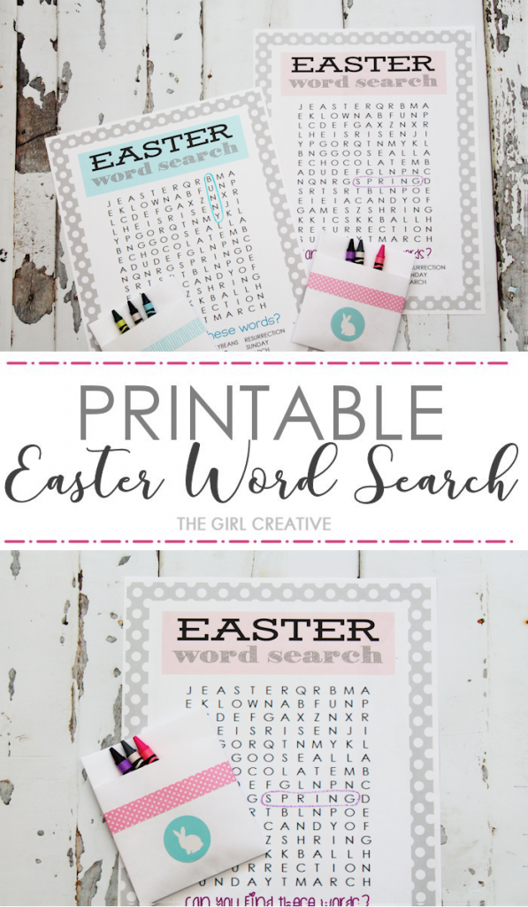 Printable Easter Word Search | Easter Puzzles and Games | Easter Activity Sheets