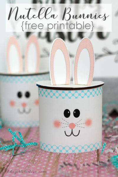 Nutella Easter Bunny Craft Idea - Turn your kids favorite treat into fun Easter Craft | Free Easter Printables | Easter Crafts for Kids