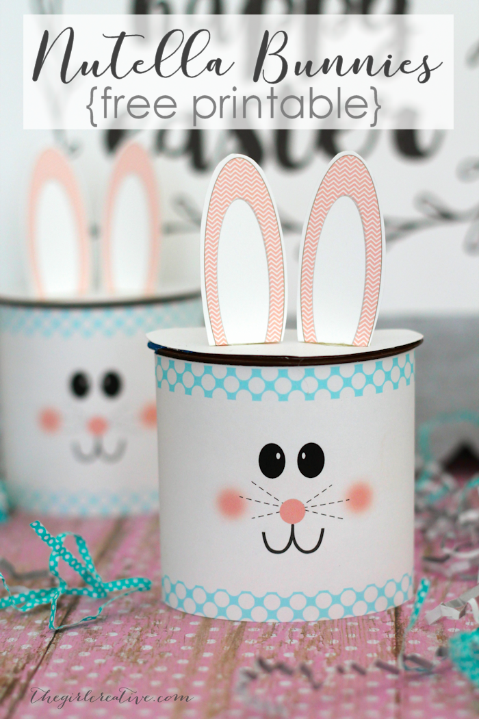 image relating to Printable Easter Craft named Nutella Easter Bunny Craft Principle - The Lady Resourceful