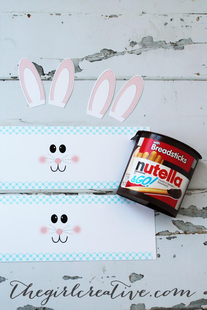 nutella easter bunny craft idea