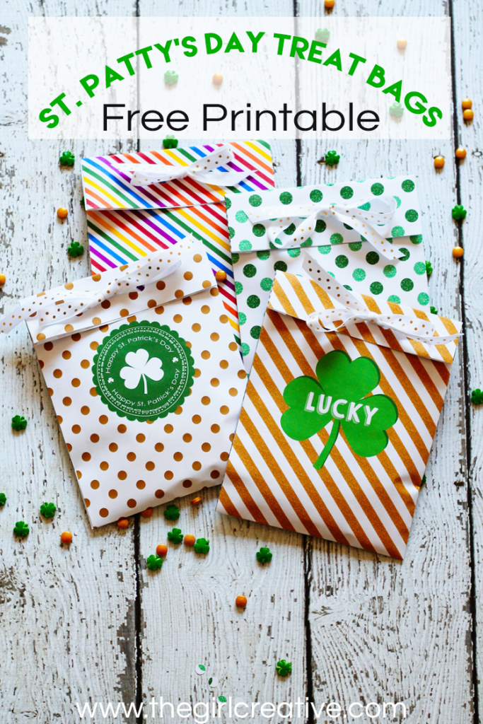 St. Patty's Day Treat Bags - Free Printable | St. Patrick's Day Printables