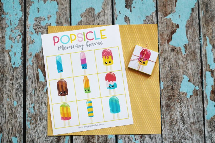 Printable Summer Themed Memory Matching Games