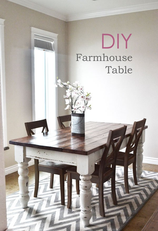 Stunning diy farmhouse tables the girl creative 4 diy farmhouse kitchen table from i heart naptime workwithnaturefo