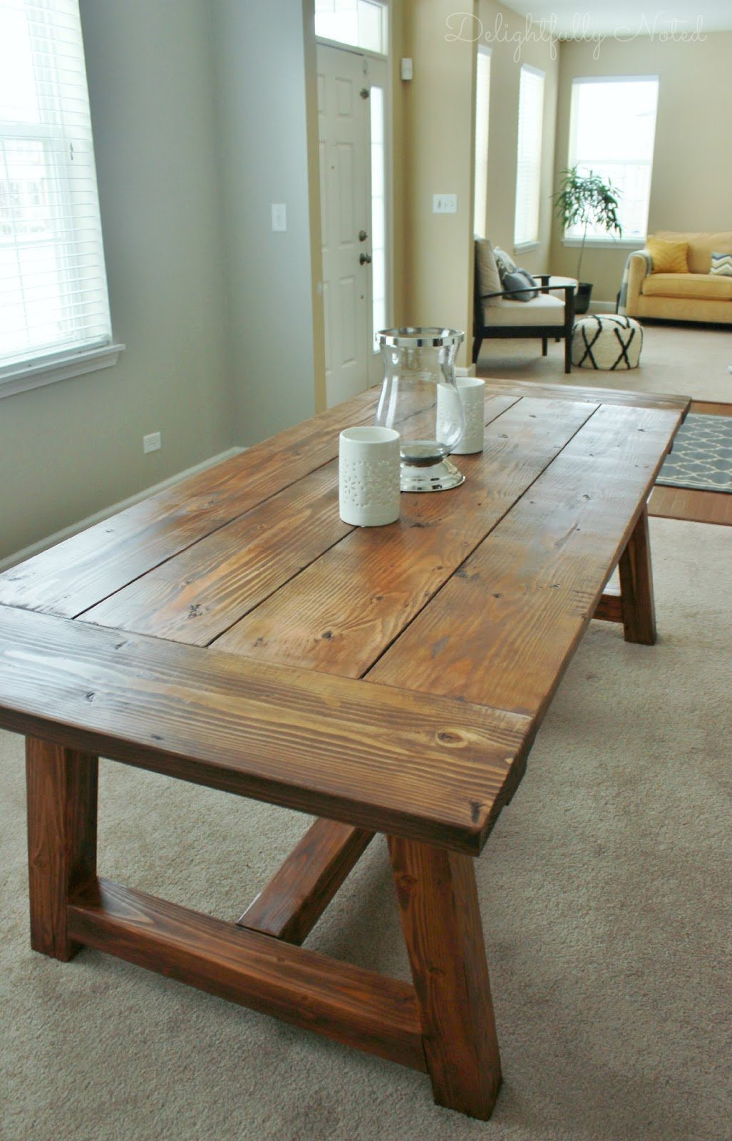 1| Farmhouse Dining Room Table From Delightfully Noted