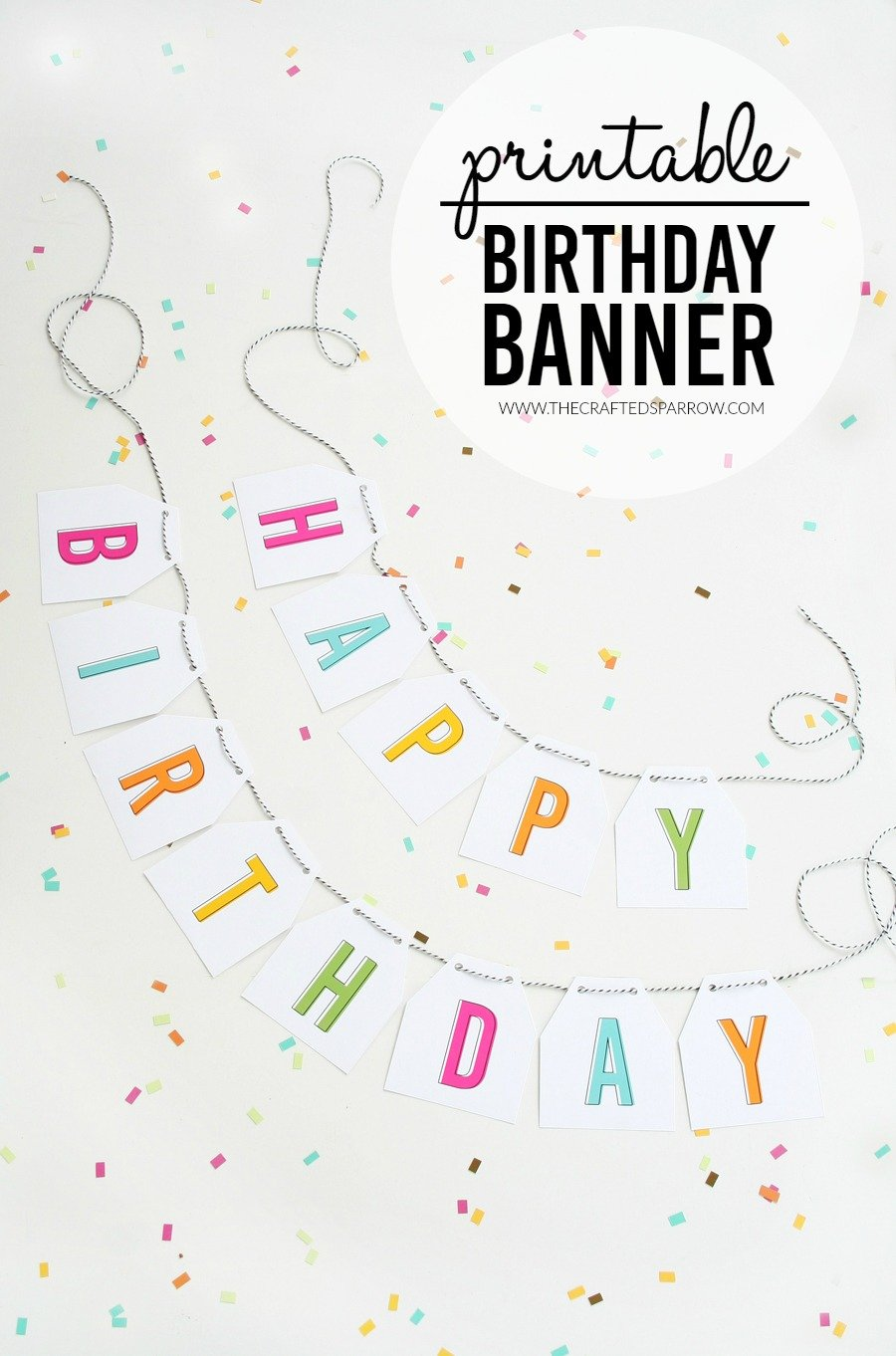 image about Printable Banners identified as Totally free Printable Birthday Banners - The Woman Innovative