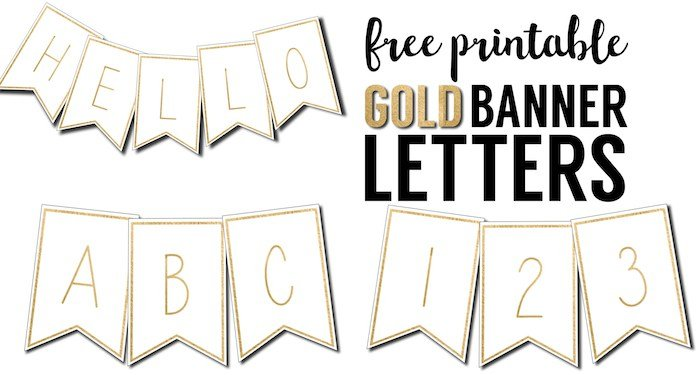 picture regarding Printable Letters Banner named Cost-free Printable Birthday Banners - The Woman Inventive