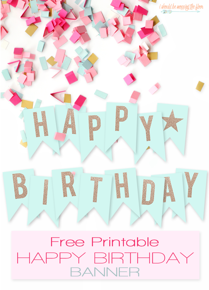 graphic regarding Happy Birthday Printable Banner referred to as No cost Printable Birthday Banners - The Lady Inventive