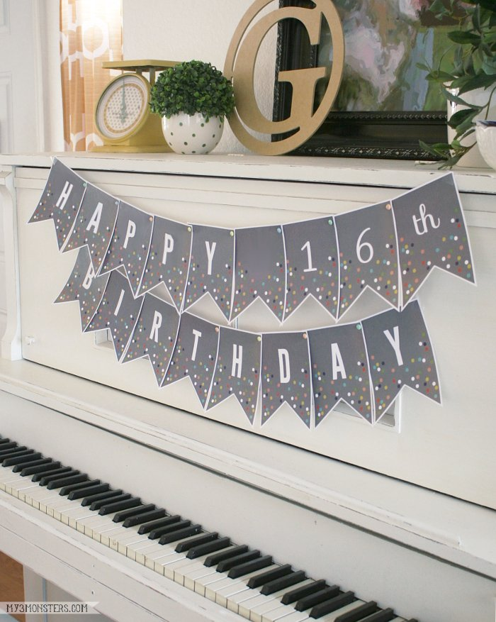6 free printable banner letters template from paper trail designs