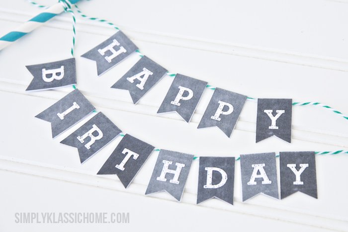 graphic relating to Printable Happy Birthday Banner identified as Cost-free Printable Birthday Banners - The Female Resourceful