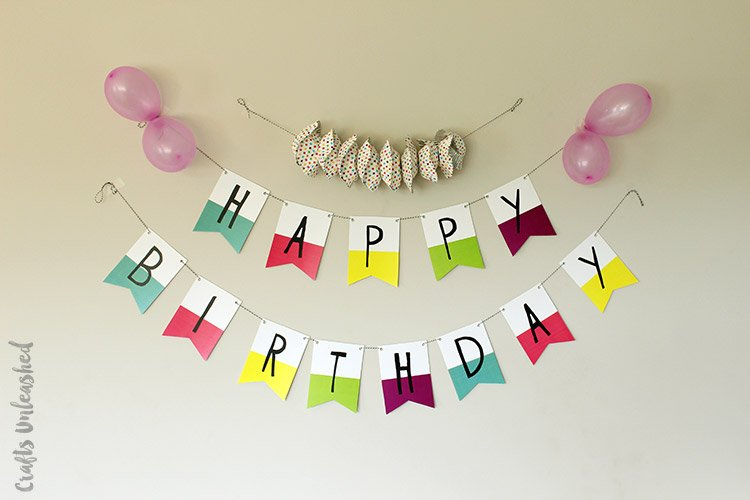 Old Fashioned image with free printable happy birthday banner