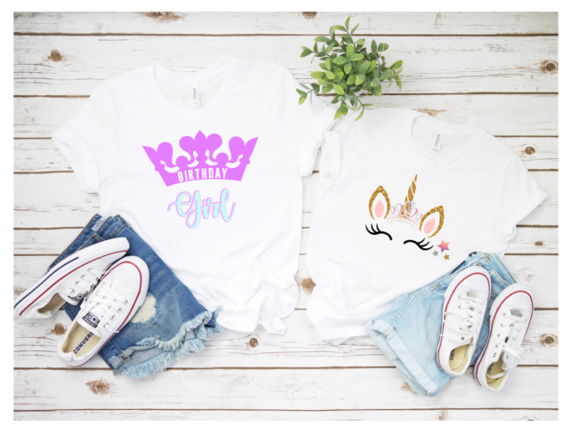 Unicorn Princess T-shirt Design | Birthday Girl SVG