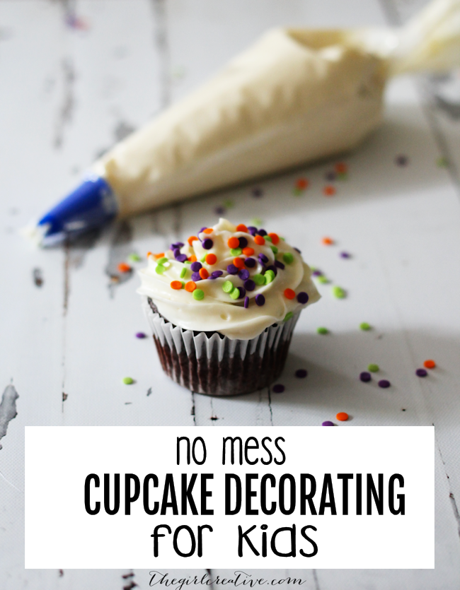 No Mess Cupcake Decorating Idea for Kids | Fun Food for Kids | Kids in the Kitchen