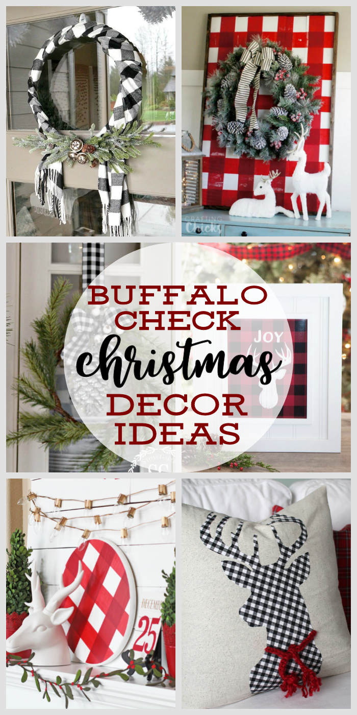 buffalo check christmas decor ideas farmhouse christmas decorating ideas how to decorate with buffalo - Farmhouse Christmas Decorating Ideas