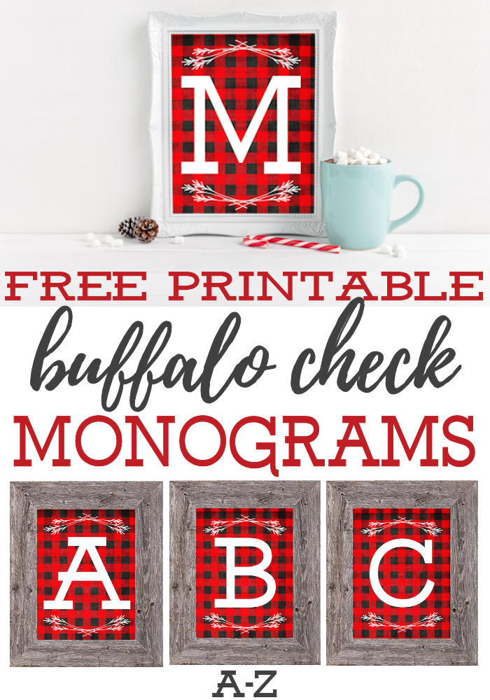 Free Printable Buffalo Check Monograms