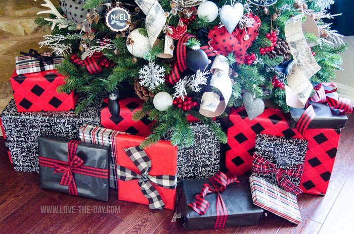 buffalo check christmas decor ideas - Buffalo Check Christmas Decor
