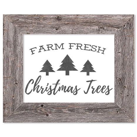 Farm Fresh Christmas Trees Sign | Farmhouse Christmas Prints