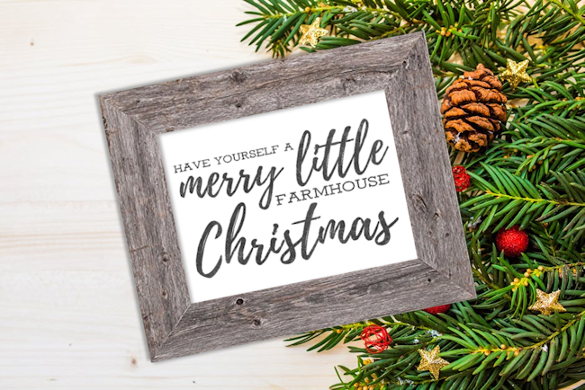 free printable farmhouse christmas signs the girl creative