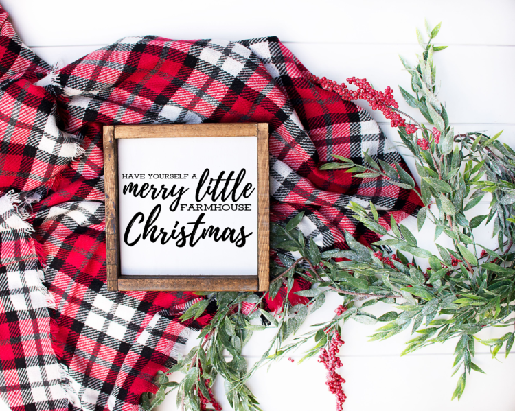 Have Yourself a Merry Little Farmhouse Christmas Free Printable