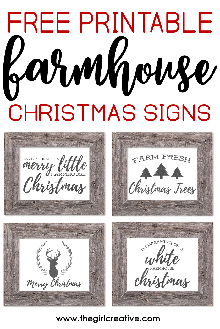 graphic regarding Free Printable Signs named No cost Printable Farmhouse Xmas Indications - The Female Resourceful