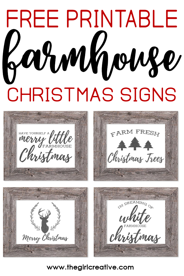 Free Printable Farmhouse Christmas Signs | Rustic Farmhouse Signs for Christmas | Free Farmhouse Printables