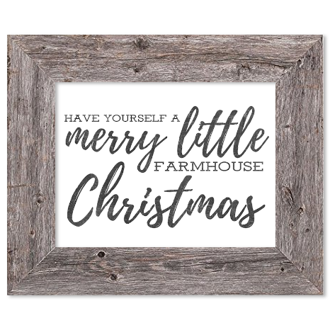 Have Yourself a Merry Little Farmhouse Christmas | Farmhouse Christmas Signs