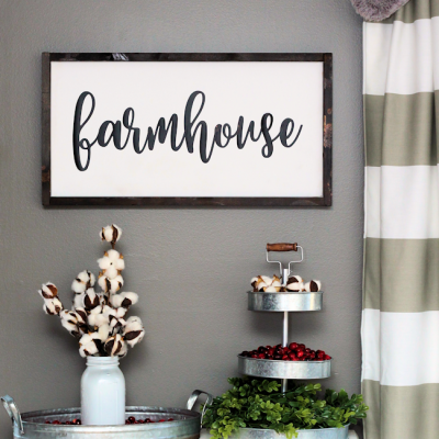 DIY Farmhouse Sign | Free SVG File | Budget Friendly Farmhouse Signs