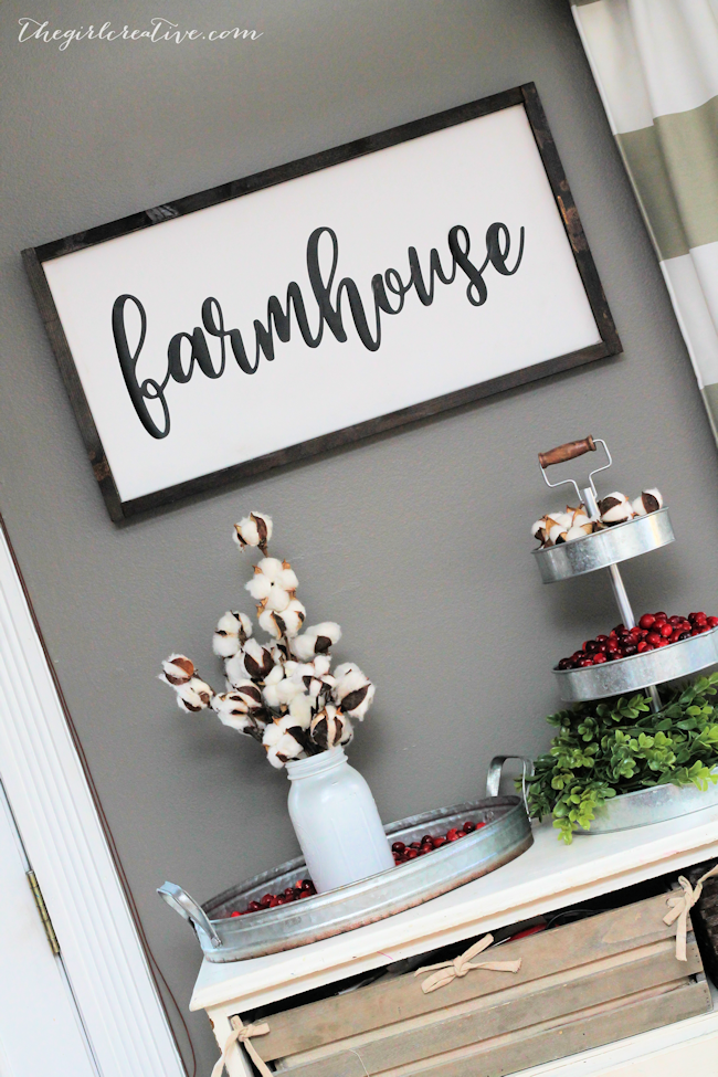 DIY Farmhouse Sign with SVG File