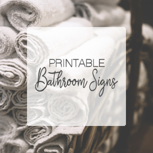 Printable Bathroom Signs + SVGs