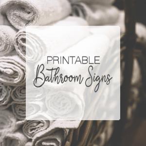 Printable Bathroom Signs + SVGs