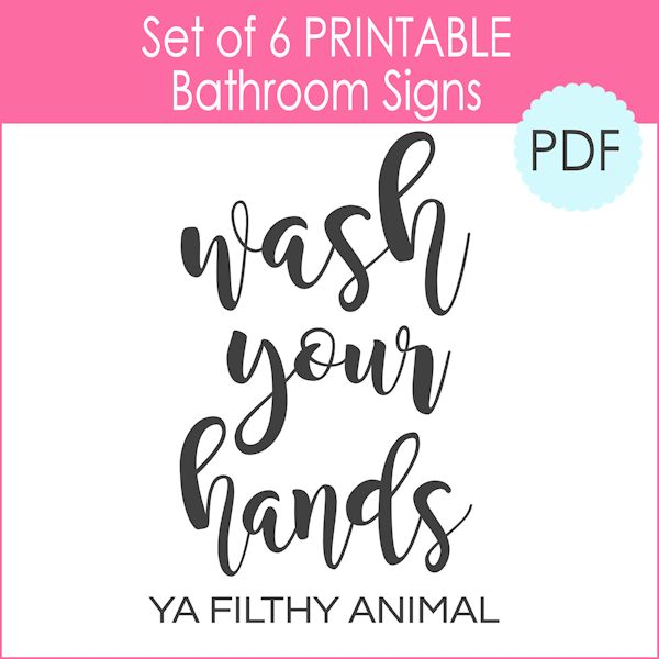 6 Printable Bathroom Signs Pdf The Girl Creative