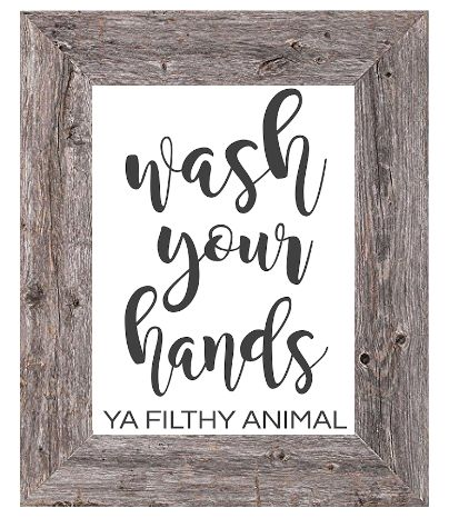 Wash Your Hands Ya Filthy Animal - Printable Bathroom Sign