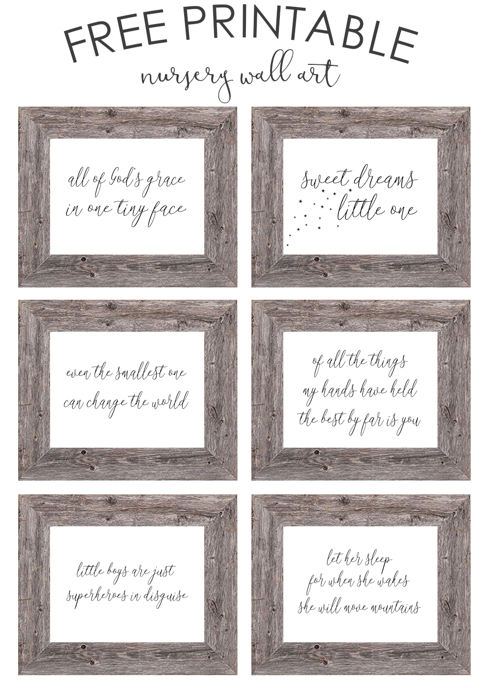 free printable nursery wall art - the girl creative